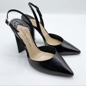 TAMARA MELLON Black Capretto 105 Liaison Heel